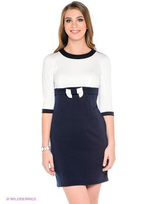 Платье Dea Fiori. Цвет: темно-синий, белый