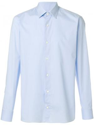 Классическая рубашка Z Zegna. Цвет: синий