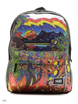 Рюкзак REALM VANS. Цвет: черный, зеленый, красный