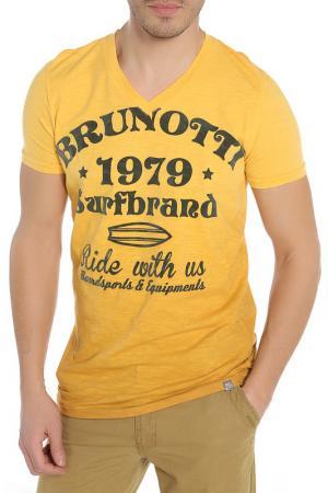 Футболка BRUNOTTI. Цвет: 0125 желтый