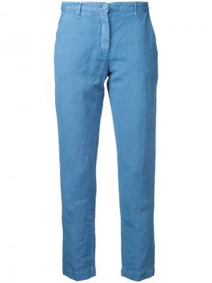 Укороченные брюки Massimo Alba. Цвет: синий