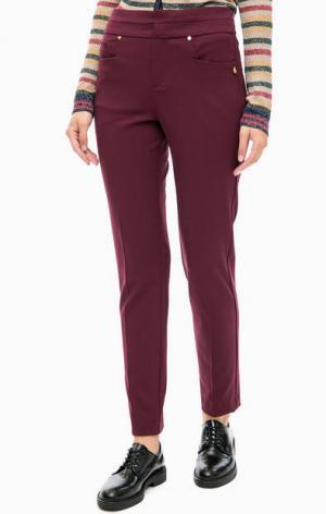 Зауженные брюки бордового цвета TRUCCO. Цвет: бордовый