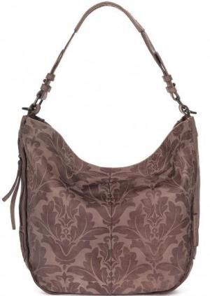 Вместительная сумка из натуральной кожи aunts & uncles. Цвет: сиреневый