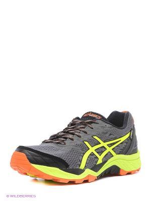 Спортивная обувь GEL-FujiTrabuco 5 G-TX ASICS. Цвет: серый, желтый, черный