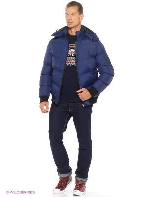 Куртка на толстом синтепоне Modis. Цвет: черный, фиолетовый