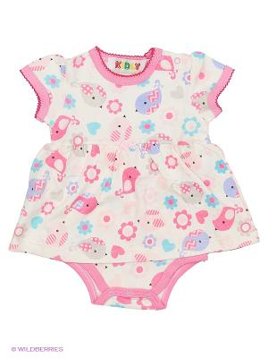 Боди Kidly. Цвет: белый, голубой, розовый