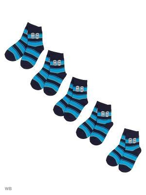 Носки детские (5 пар) HOSIERY. Цвет: черный, синий