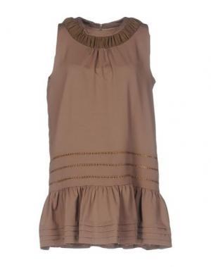Короткое платье BONSUI. Цвет: зеленый-милитари