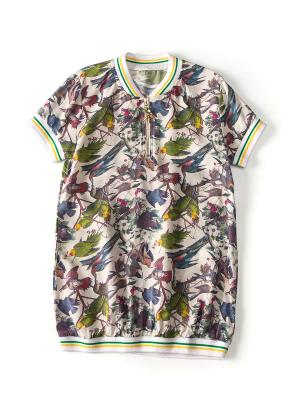 Футболка-рубашка I love to dream. Цвет: белый, серый