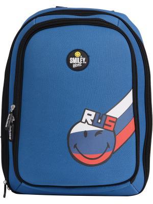 Рюкзак школьный жесткий PROFF. Цвет: синий