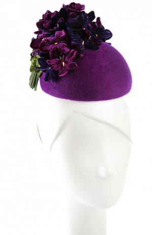 Шляпа Philip Treacy. Цвет: фиолетовый