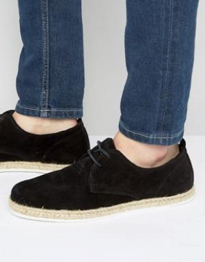 Zign Замшевые эспадрильи на шнуровке. Цвет: черный