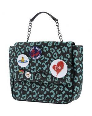 Рюкзаки и сумки на пояс VIVIENNE WESTWOOD ANGLOMANIA. Цвет: бирюзовый