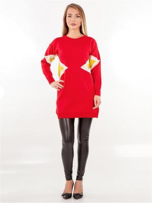 Платье-туника HELLO MODA!. Цвет: красный