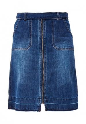 Юбка джинсовая s.Oliver. Цвет: синий