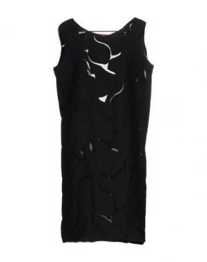 Короткое платье CARLO CONTRADA. Цвет: черный
