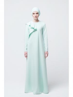 Платье макси Селин прямое мятное Bella kareema