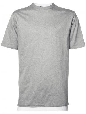 Двухслойная футболка T By Alexander Wang. Цвет: серый