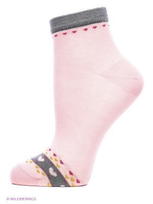 Носки, 2 пары Cascatto. Цвет: розовый