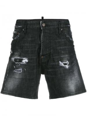 Distressed denim shorts Dsquared2. Цвет: чёрный