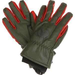 Перчатки сноубордические  Kazu Work Glove Olive Neff. Цвет: черный,зеленый,красный
