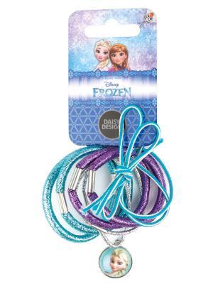 Набор резинок Блестящий Daisy Design. Цвет: голубой