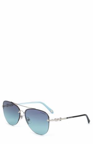 Солнцезащитные очки Tiffany & Co.. Цвет: голубой
