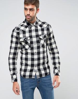 Nudie Jeans Рубашка в клетку Co Jonis. Цвет: черный