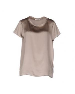 Блузка REBEL QUEEN. Цвет: серый