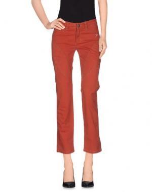 Повседневные брюки 9.2 BY CARLO CHIONNA. Цвет: ржаво-коричневый
