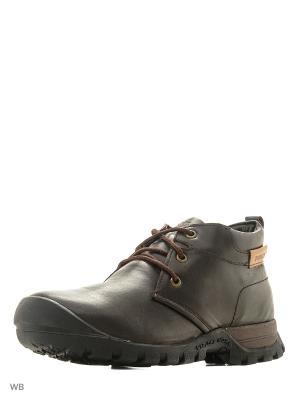 Ботинки WOODLAND. Цвет: темно-коричневый