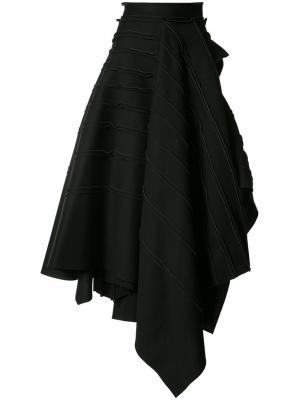 Многослойная юбка-макси Maticevski. Цвет: чёрный
