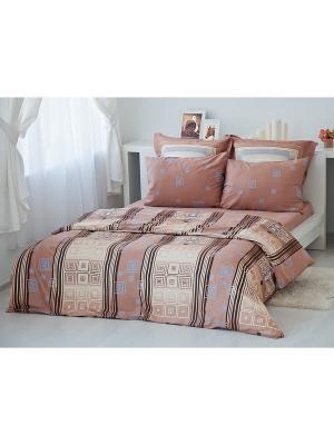 Комплект постельного белья Кофе Тет-а-Тет. Цвет: коричневый