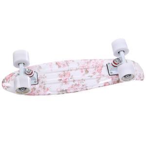 Скейт мини круизер  Rose White/White 22 (55.9 см) Turbo-FB. Цвет: белый