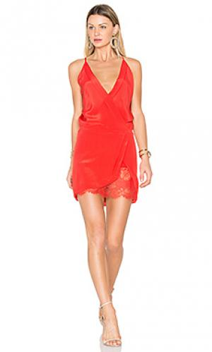Мини платье с запахом Michelle Mason. Цвет: оранжевый