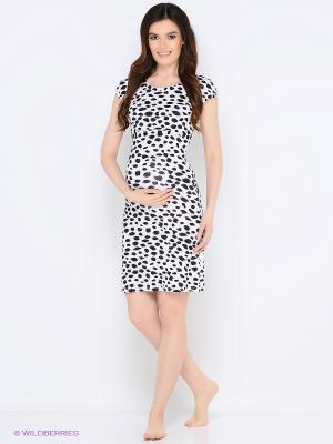 Ночная сорочка для беременных и кормления 40 недель. Цвет: синий, серый