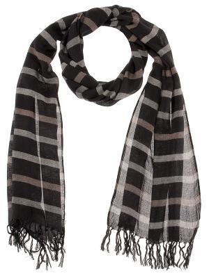 Платок Passigatti. Цвет: черный, серо-коричневый