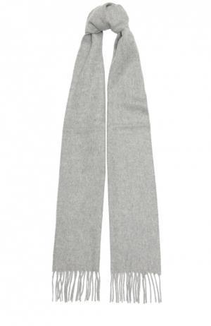 Кашемировый шарф с бахромой Johnstons Of Elgin. Цвет: светло-серый