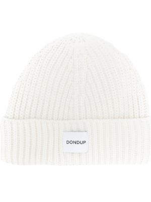 Трикотажная шапка Dondup. Цвет: белый