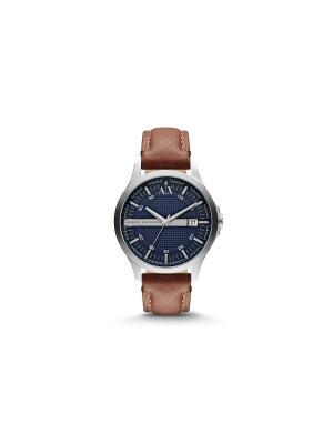 Часы Armani Exchange. Цвет: коричневый, серебристый, темно-синий
