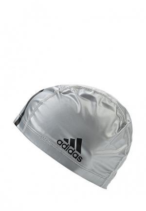 Шапочка для плавания adidas Performance. Цвет: серебряный