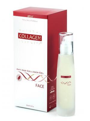 Гель коллагеновый для кожи лица Natural Collagen Inventia Face. Цвет: прозрачный, белый, красный