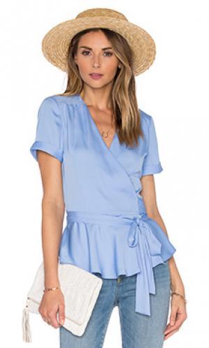 Блузка с запахом the retro LAcademie L'Academie. Цвет: синий