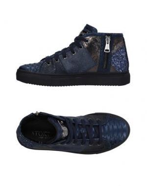 Высокие кеды и кроссовки STOKTON. Цвет: темно-синий