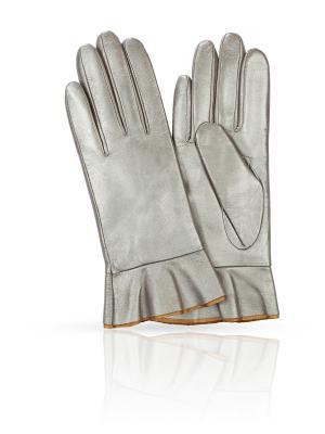 Перчатки MICHEL KATANA`. Цвет: серебристый
