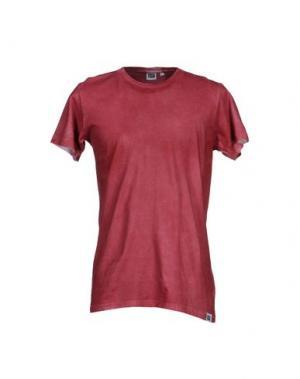 Футболка DRESS CODE. Цвет: кирпично-красный