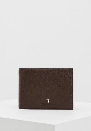 Кошелек Trussardi Jeans. Цвет: коричневый