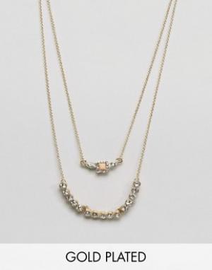 Johnny Loves Rosie Ярусное ожерелье. Цвет: золотой