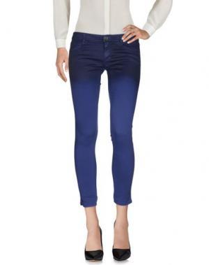 Повседневные брюки DENNY ROSE. Цвет: синий