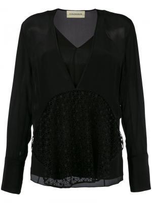 Блузка Divoska By Malene Birger. Цвет: чёрный